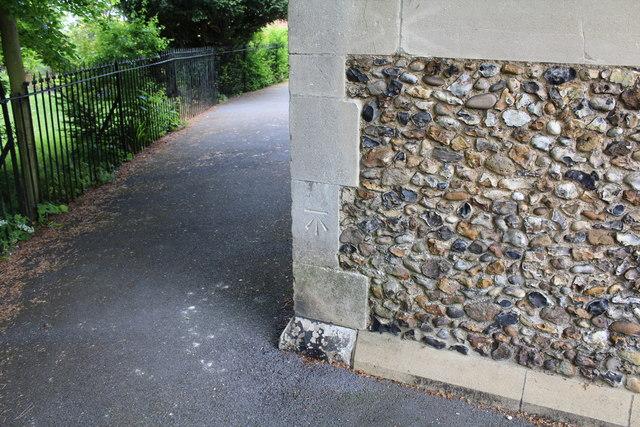 Cut mark at St Martin's Church, Chipping Ongar