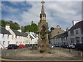 NO0242 : Perthshire Townscape : Memorial Fountain, High Street / Cathedral Street, Dunkeld by Richard West