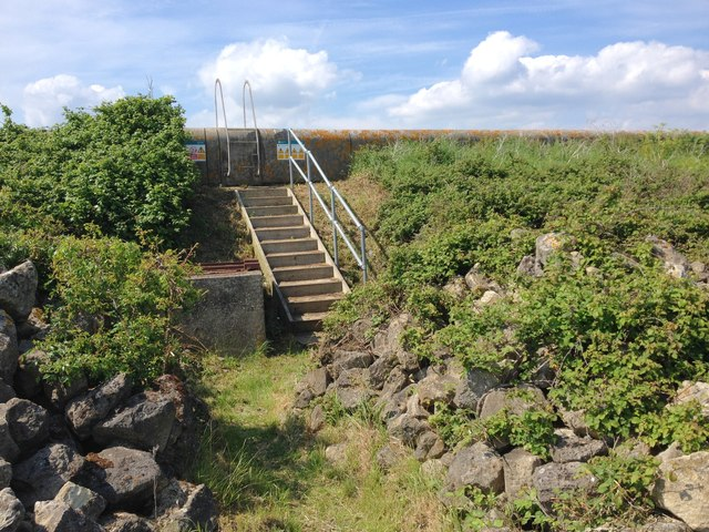 Steps leading up the Sea Wall, near Lower Hope Point
