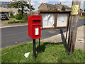TM2155 : 2 Newlands Postbox & Otley Village Notice Board by Adrian Cable