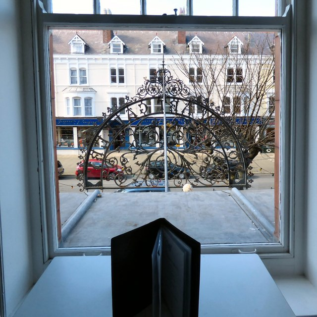 Looking out of Caffi Celf