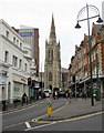 SZ0891 : Towards the Parish Church of St Peter, Bournemouth by Jaggery