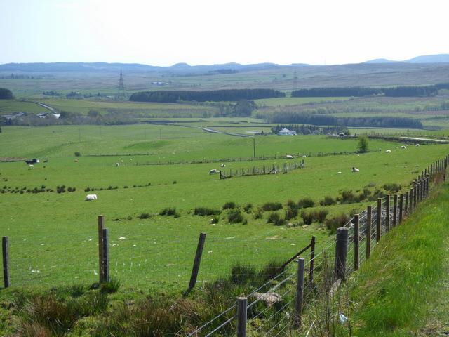 Farmland at Auchentiber Farm
