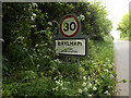 TM1051 : Baylham Village Name sign on Upper Street by Adrian Cable