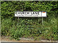 TM1051 : Church Lane sign by Adrian Cable