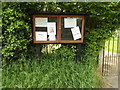 TM1051 : St.Peter's Church Notice Board by Adrian Cable