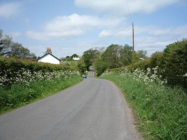 Minor road towards Beaumont