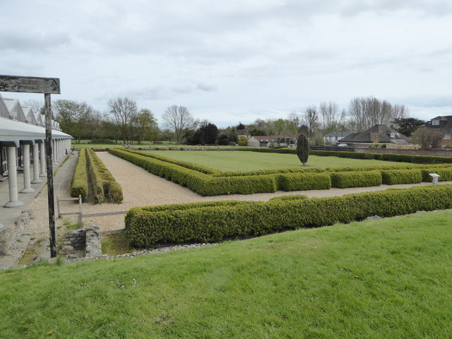 Reconstructed Roman garden at Fishbourne Palace