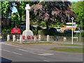 SU2103 : War Memorial, Burley Cross by David Dixon