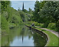 SK5779 : Fisherman on the Chesterfield Canal by Mat Fascione