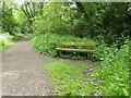 SJ8054 : Merelake Way: bench by Jonathan Hutchins