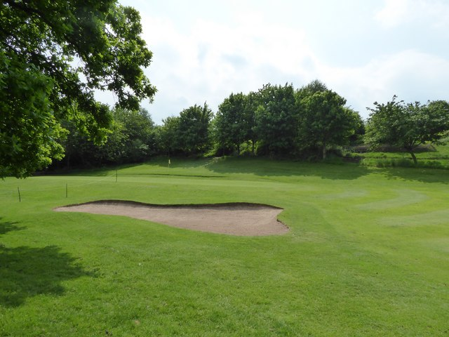 Alsager Golf Course: bunker and green