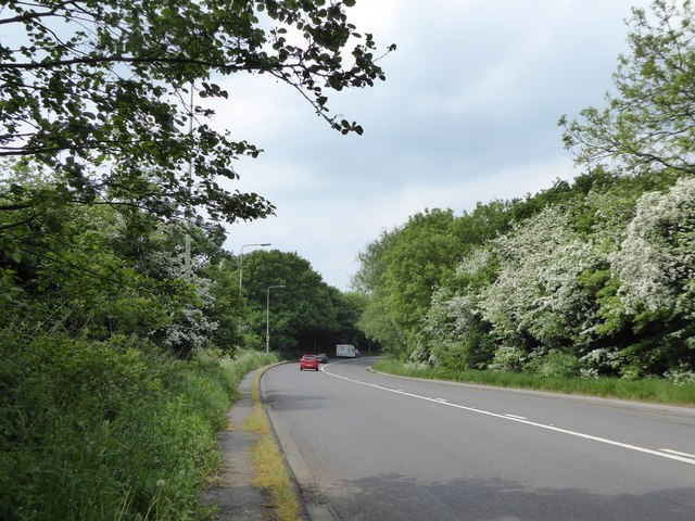 Bend in A5011 between Talke and Alsager