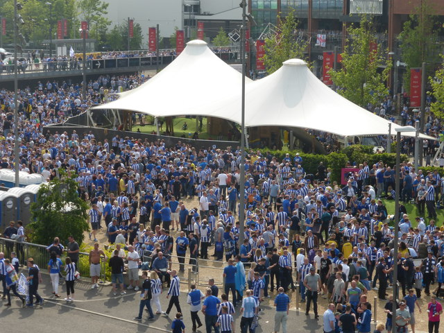 The Sheffield Wednesday fan zone at Wembley
