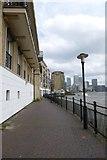 TQ3680 : Thames path behind Narrow Street by DS Pugh