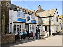SW9980 : Confectioner's shop, Church Hill, Port Isaac by Derek Voller