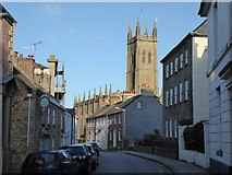 SW4730 : Chapel Street and St. Mary's Church, Penzance by Maurice D Budden