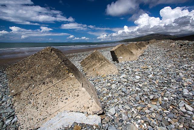 North Wales WWII defences: Fairbourne - anti-tank blocks (4)