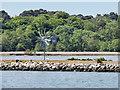 SZ0388 : Wind Monitor on the Wall of Brownsea Island Lagoon by David Dixon