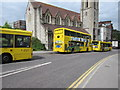 SZ0891 : Yellow times three, Bournemouth by Jaggery