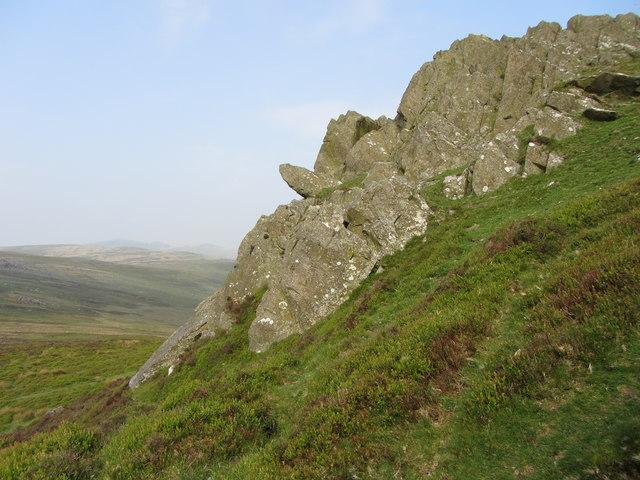 Rocky outcrops on Foel Drygarn