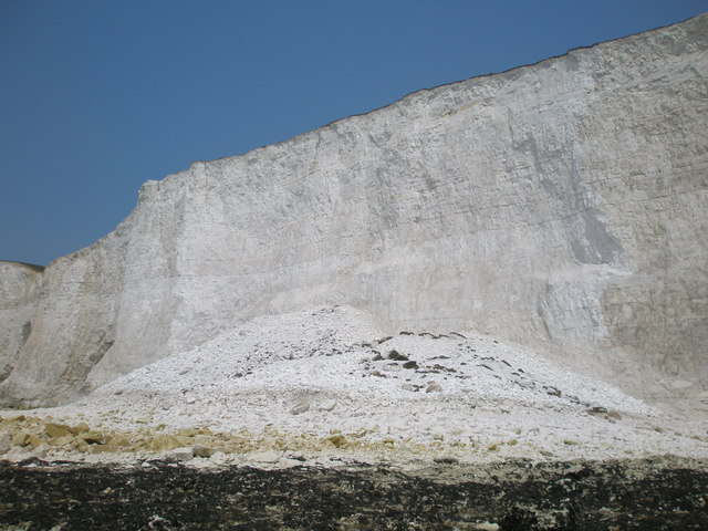 Cliff collapse at Brass Point in the Seven Sisters Country Park