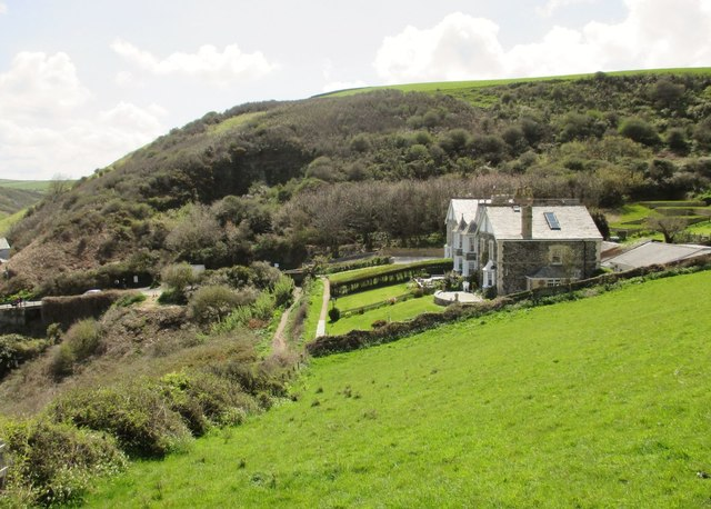 View from the path up to Lobber Point, Port Isaac