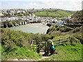 SW9980 : Kissing Gate on the coastal path above Port Isaac by Derek Voller