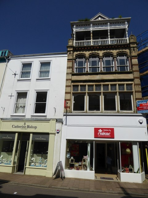 A mix of architectural styles, 13, High Street, Barnstaple