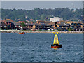 SZ0189 : Yellow Cardinal Marker Buoy, Poole Harbour by David Dixon