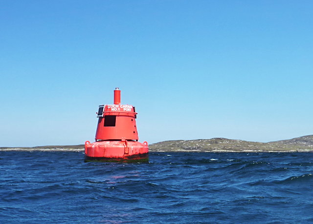Loch Carnan no. 1 port-side channel buoy