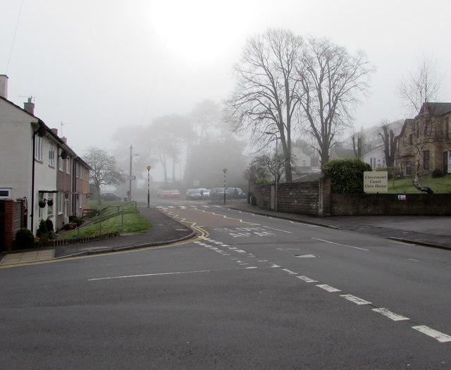 Morning fog in April, Pillmawr Road, Malpas, Newport