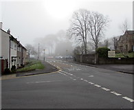 ST3090 : Morning fog in April, Pillmawr Road, Malpas, Newport by Jaggery