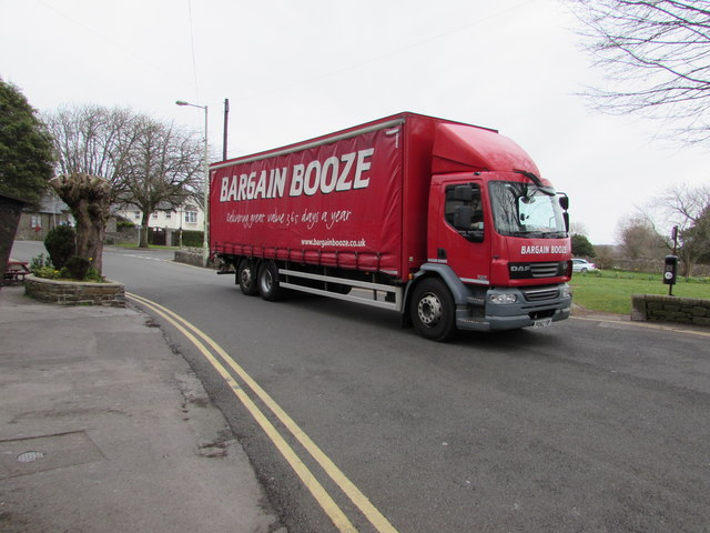 Bargain Booze lorry in Newton, Porthcawl