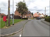TM0855 : Crowley Road & 28 Crowley Road Postbox by Adrian Cable