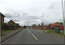 TM0855 : Hurstlea Road. Needham Market by Adrian Cable