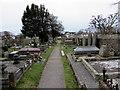 SS8377 : Churchyard path, Porthcawl by Jaggery