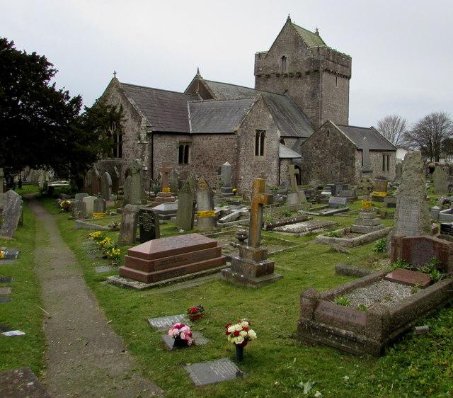 Northeast side of  St John the Baptist, Newton, Porthcawl
