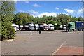 SJ8930 : Stafford Services, Lorry Park by David Dixon