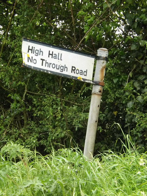 Roadsign on Nettlestead Road
