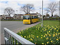 ST1478 : Yellow corner of a Llandaff North school, Cardiff by Jaggery