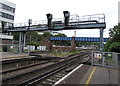 SU4112 : Signal gantry at the eastern end of Southampton Central railway station by Jaggery