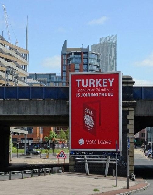"""""""Vote Leave"""" hoardings poster in Salford"""