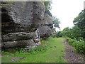 TQ5538 : Underneath High Rocks by Marathon