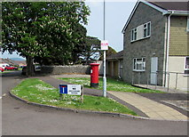 ST3049 : Two NO notices and a pillarbox on a Burnham-on-Sea corner by Jaggery
