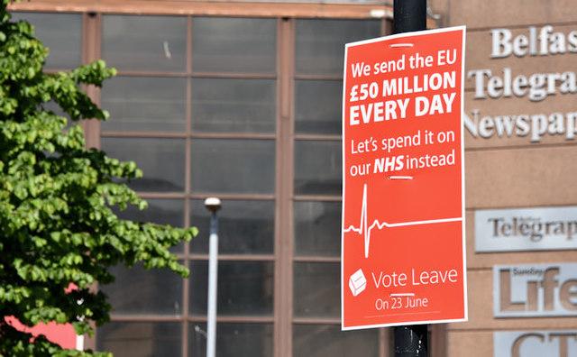 "EU referendum ""leave"" poster, Belfast (June 2016)"