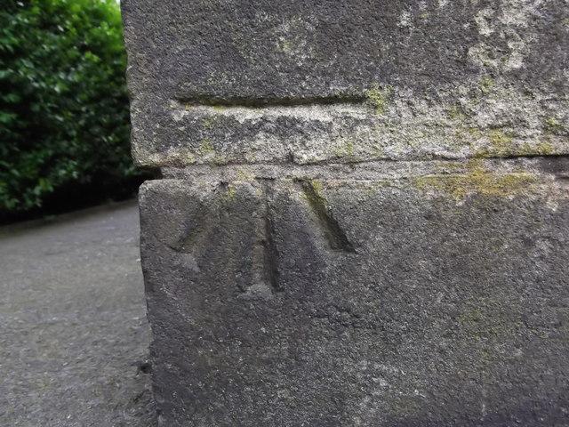 Benchmark at St James Church, Thornton