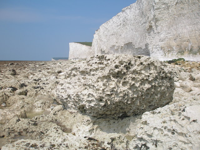 Physical, chemical and biological weathering of a rock
