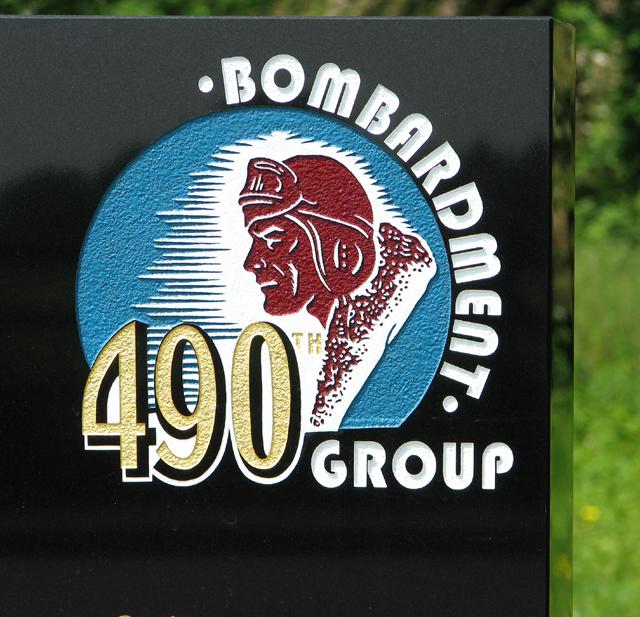 490th Bomb Group memorial (detail)