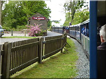 SD1499 : Ravenglass and Eskdale train approaches Eskdale Green Station by Sarah Charlesworth